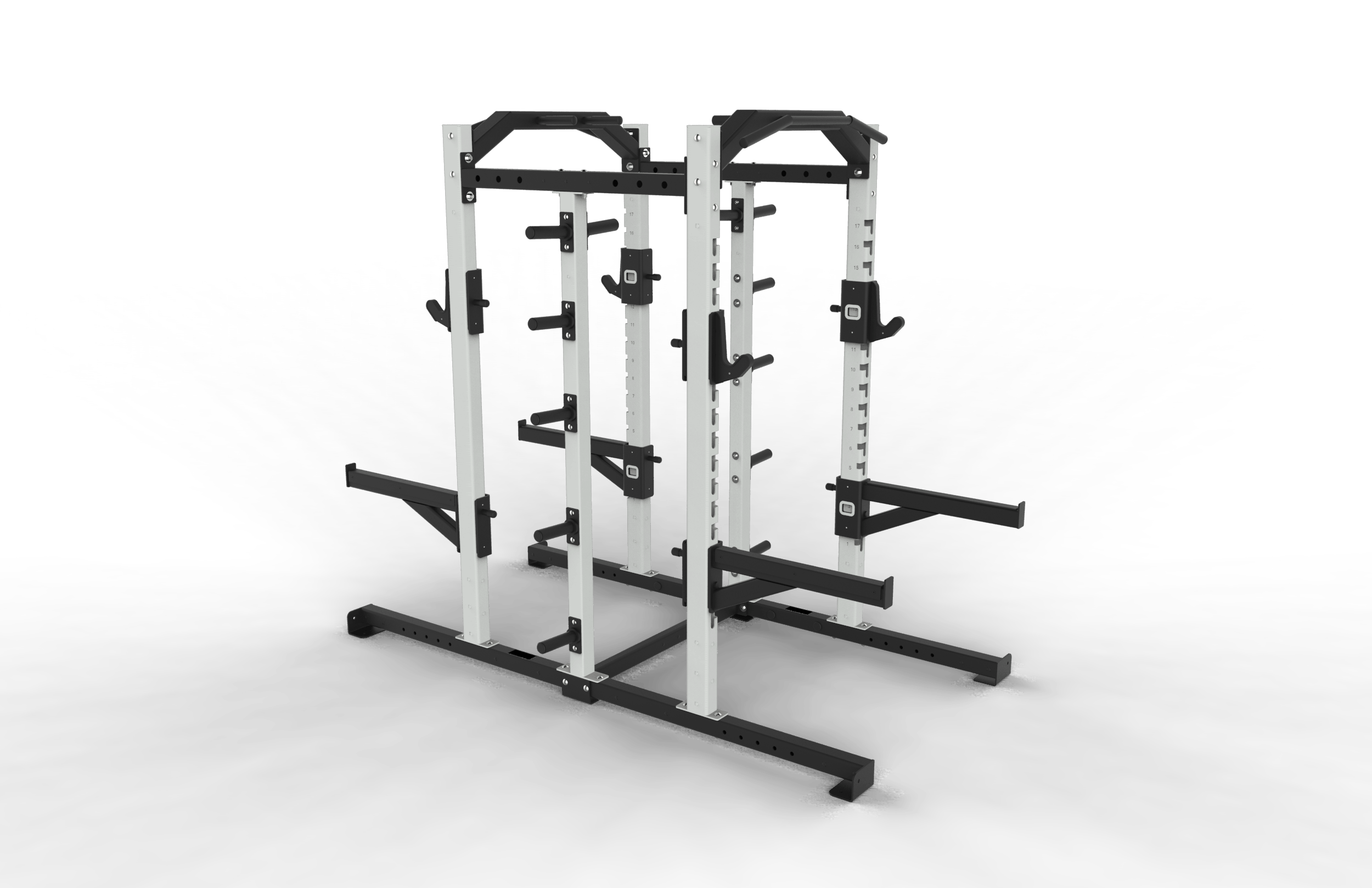 Double-Half-Rack-w-5-peg-Bumper-and-Double-Chin-Station